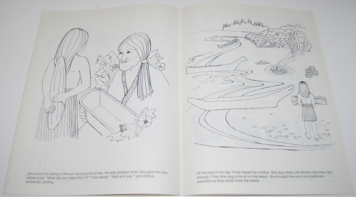 American indian girl coloring book tinka 8