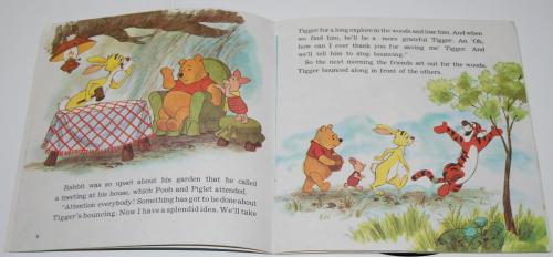 Disney pooh & tigger vinyl record 2