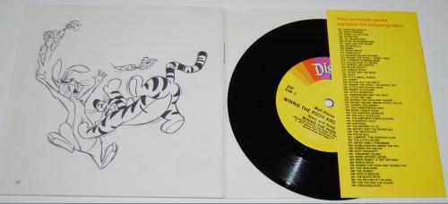 Disney pooh & tigger vinyl record x