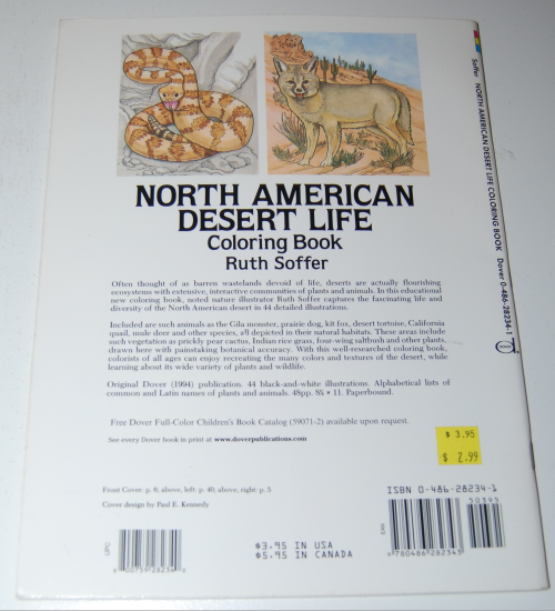 Dover coloring book n american desert x