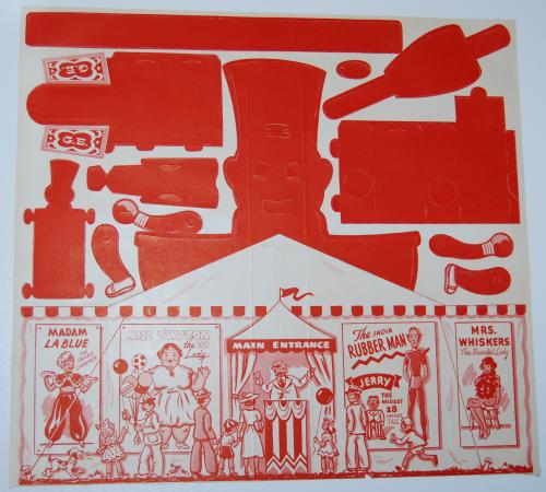 Ge big top circus cutout 1950 2