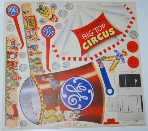 Ge big top circus cutout 1950 3