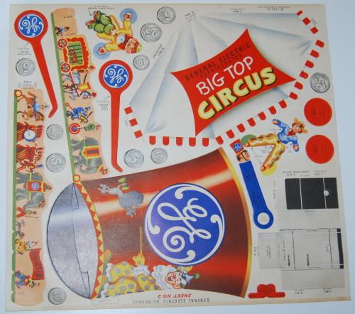 Ge big top circus cutout 1950 3