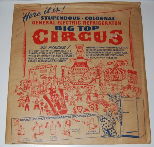 1950 ge cutout circus