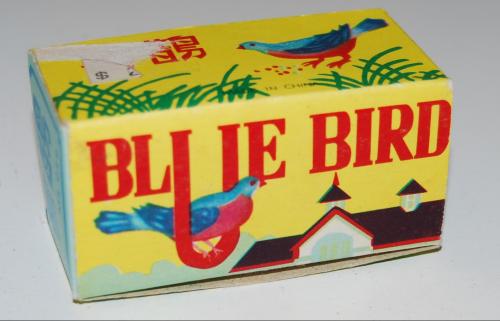 Tin bluebird windup toy 3