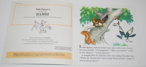 Disney book & cassette bambi 1