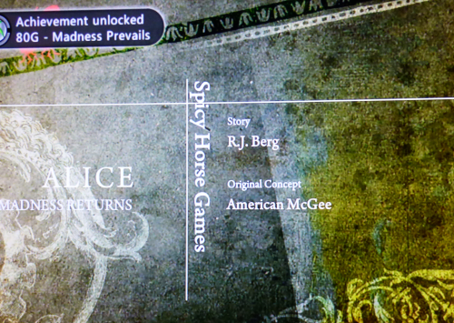 Xbox achievements american mcgee alice madness returns