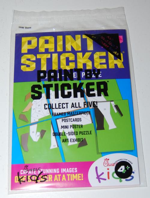 Chikfila kids paint stickers