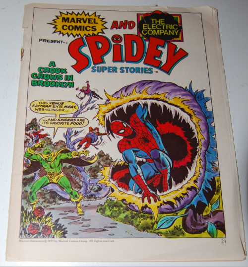 Marvel comics spidey & the electric company