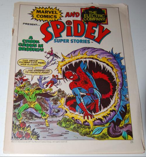 Marvel comics spidey & the electric company