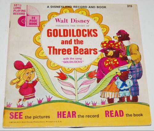 Disney goldilocks vinyl record