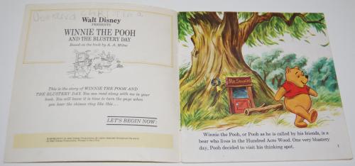 Disney book & cassette winnie the pooh 1