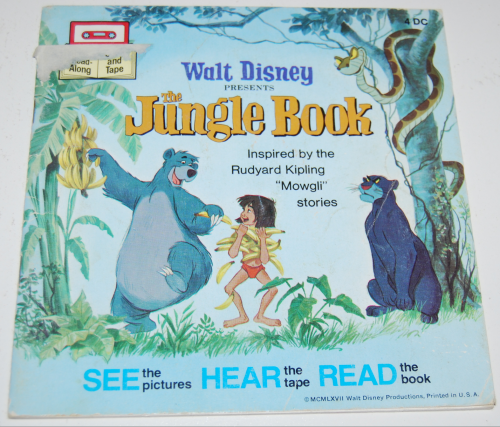 Disney book & cassette jungle book