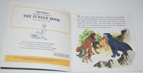 Disney book & cassette jungle book 1
