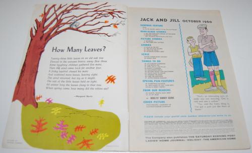 Jack & jill magazine october 1960 1
