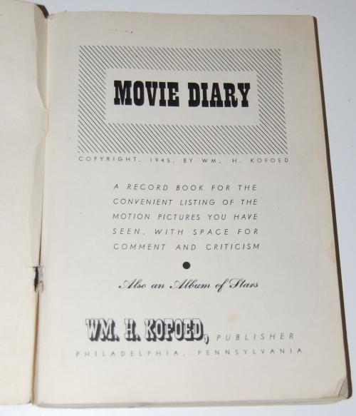 My movie diary 1
