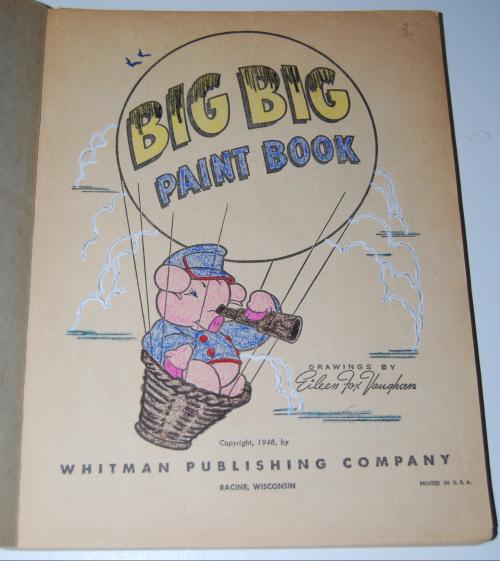 Whitman big big paint book 1948 1
