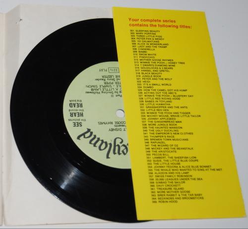 Disney mother goose rhymes vinyl record x