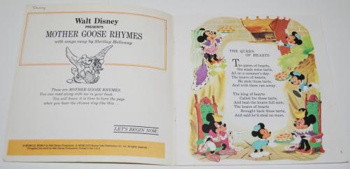 Disney book & cassette mother goose 1