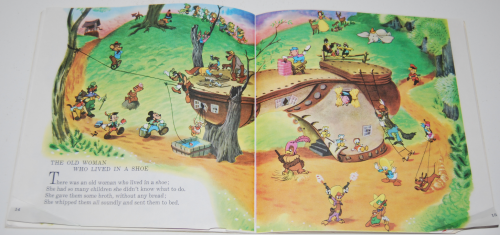 Disney book & cassette mother goose 4