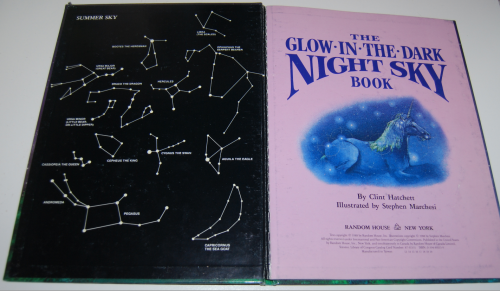 Glow in the dark night sky book 1
