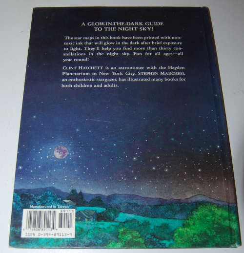 Glow in the dark night sky book x