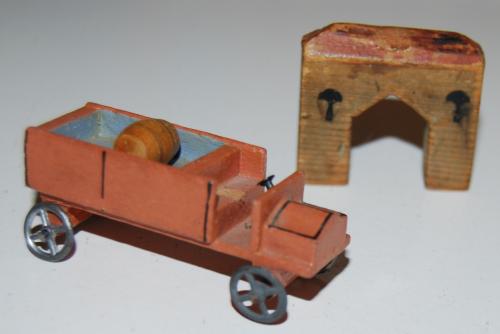 Vintage east germany wooden toy buildings 3