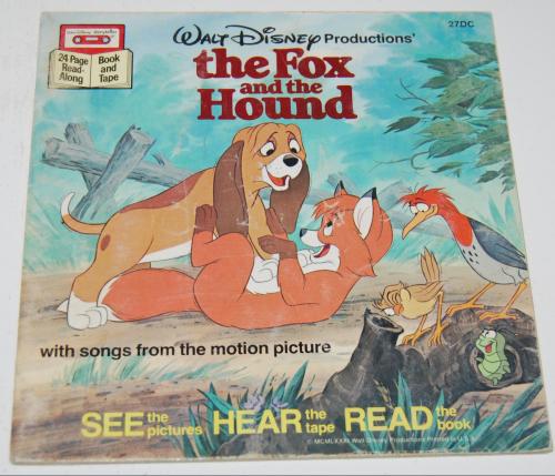 Disney book & cassette fox & the hound