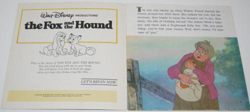 Disney book & cassette fox & the hound 1