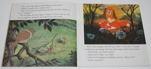 Disney book & cassette fox & the hound 3