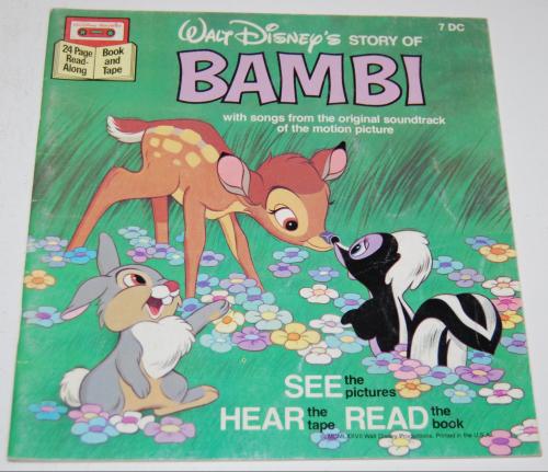 Disney book & cassette bambi