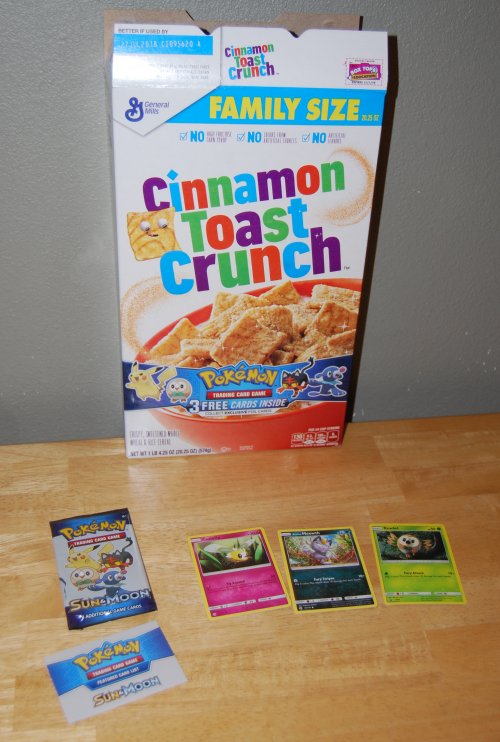 Pokemon sun moon cards cereal