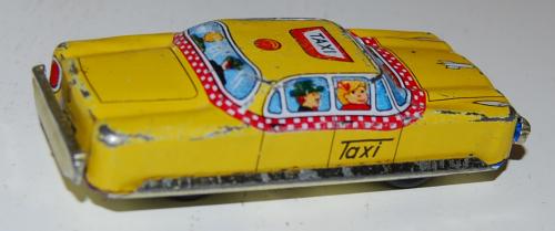 Vintage tin toy taxi 1