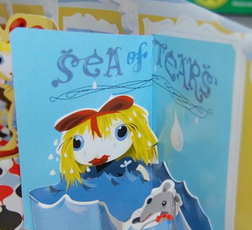 Alice in wonderland popup book 3
