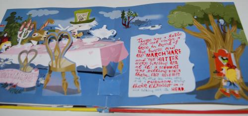 Alice in wonderland popup book 10