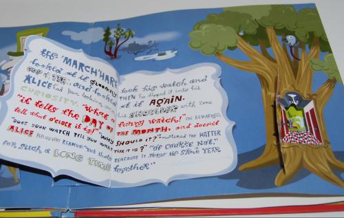 Alice in wonderland popup book 11