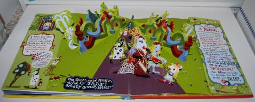 Alice in wonderland popup book 13