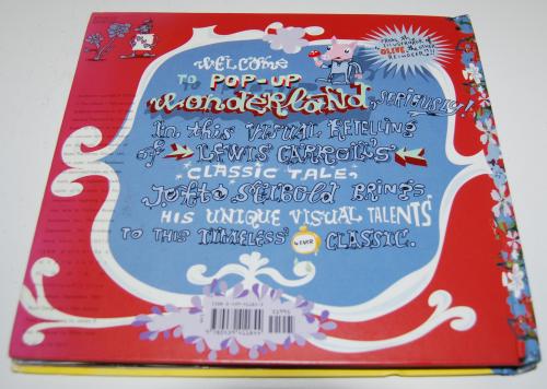 Alice in wonderland popup book x
