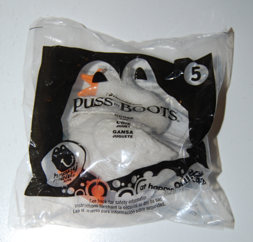Puss in boots happy meal toy