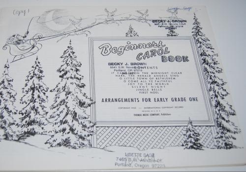 Beginner's carol book 2