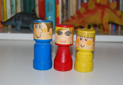 Vintage wooden people