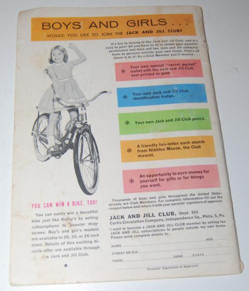 Jack & jill magazine september 1961 x