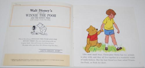 Disney book & cassette winnie the pooh 5