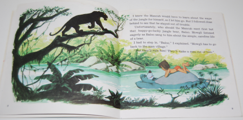 Disney book & cassette jungle book 3