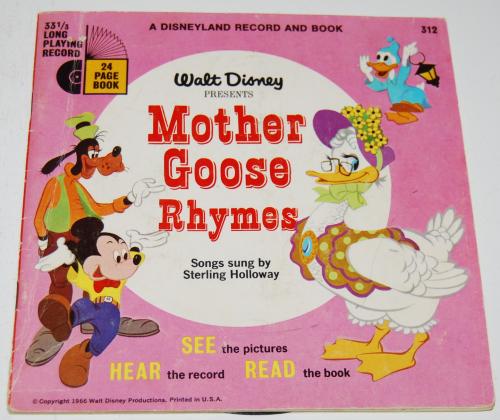 Disney mother goose rhymes vinyl record