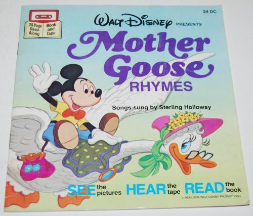 Disney book & cassette mother goose