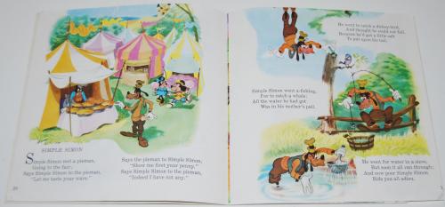 Disney book & cassette mother goose 3