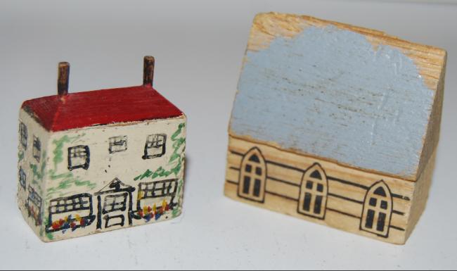 vintage wooden putz toys