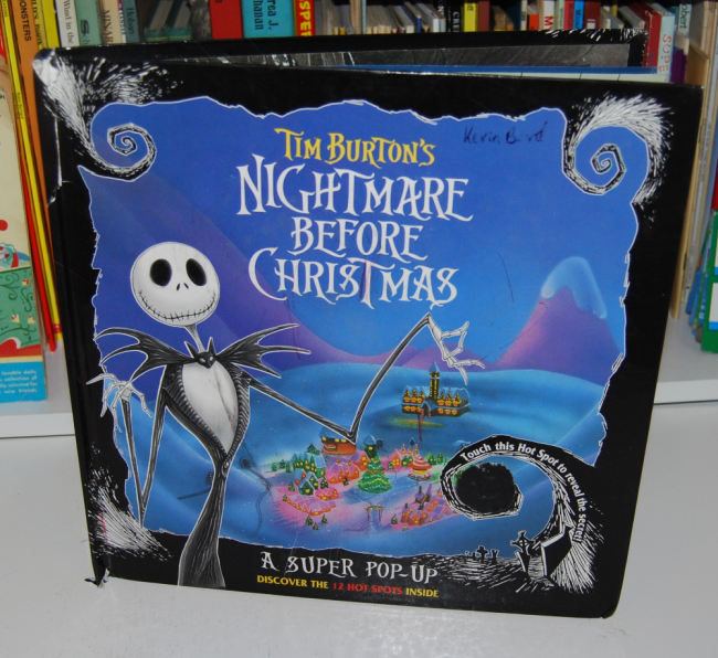 nightmare before christmas pop-up book