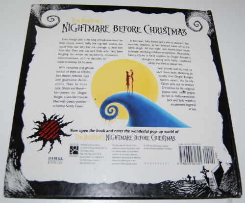 Nightmare before christmas pop up book x